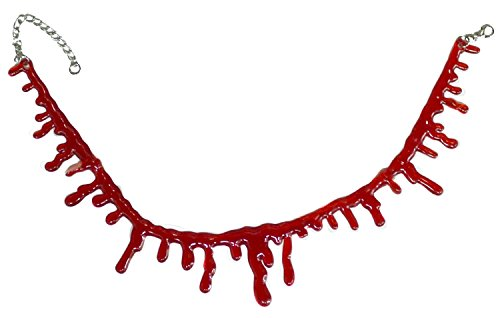 [ASSIS Halloween Costume Accessory - Adjustable Blood Drip Choker Necklace] (Spirit Halloween Inflatable Costumes)