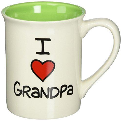 Enesco 4026596 Our Name Is Mud by Lorrie Veasey I Heart Grandpa 16-Ounce Mug (Grandpa Coffee Mug compare prices)