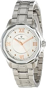 Women Watch Bulova 96L172 Dress Dress Stainless Steel Case and Bracelet Silver T