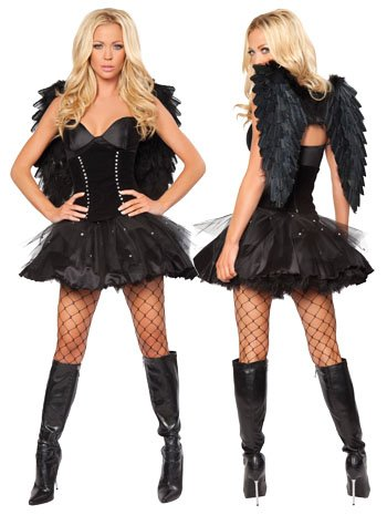 Sexy Dark Angel Costume - SMALL/MEDIUM