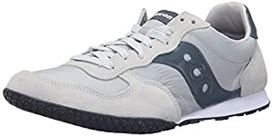 Saucony Originals Men's Bullet Fashion Sneakers, Light Grey/Slate, 14 M US