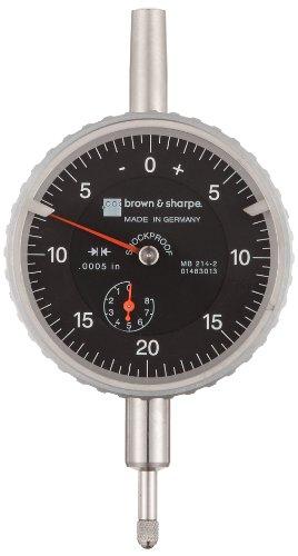 Brown & Sharpe 14.83013 Dial Indicator, 4.0-48 Thread, 0.374