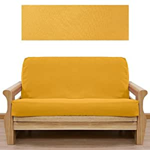 Ultra Suede Gold Yellow Futon Cover Loveseat 643
