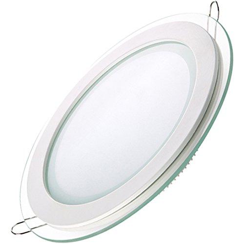 Generic 16W Led Round Glass Panel Light 32 Smd5730 Ac85-265V Color White-Warm White