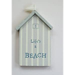 New East of India Life's a Beach Picture Sign Beach Hut No1