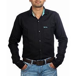 Aaduki Men's Casual Black Shirt-42