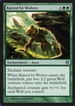 Magic: the Gathering - Raised by Wolves (135/165) - Born of the Gods (Howl Of The Night Pack compare prices)