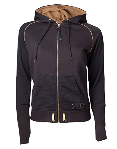 Meroncourt - Zipped with Assassin's Logo, cappuccio Donna, Nero (Black), X-Large