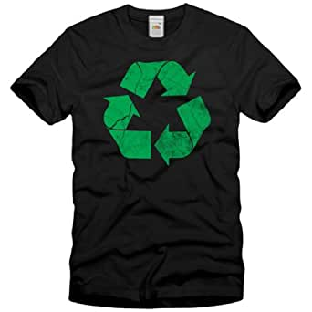 style3 Recycle T-Shirt Homme The Big Bang Theory Sheldon tbbt, Taille:S;Couleur:Noir