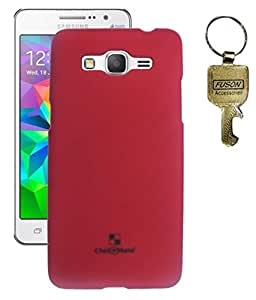 FUSON PREMIUM HARD BACK CASE COVER FOR SAMSUNG GALAXY GRAND PRIME G530H - RED WITH KEY