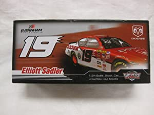 Nascar Elliott Sadler #19 '07 Dodge Dealers Charger LE 1:24 Scale Car By Motorsports Authentics