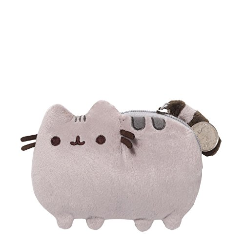 GUND Pusheen Cat Plush Stuffed Animal Coin Purse, Gray, 5""