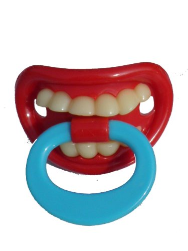 BABY DUMMY SOOTHER PACIFIER FUNNY TEETH NOVELTY