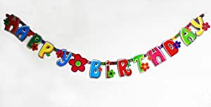 HAPPY BIRTHDAY GIRLANDE 2,10 MTR. LANG