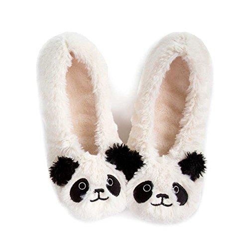totes-ladies-novelty-footsie-socks-cream-panda-small-medium