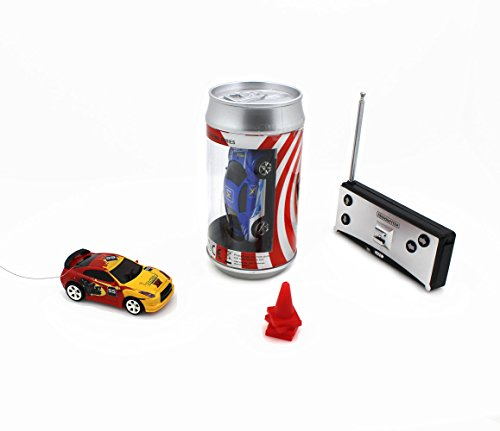 Speed Mini Coke Racer RC Radio Remote Controlled Micro Racing Car With LED Lingts Toys Kids Gift, Color by Random ,40MHz (Cars Micro Racers compare prices)