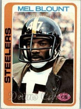 1978 Topps # 475 Mel Blount Pittsburgh Steelers (Football Card) Dean's