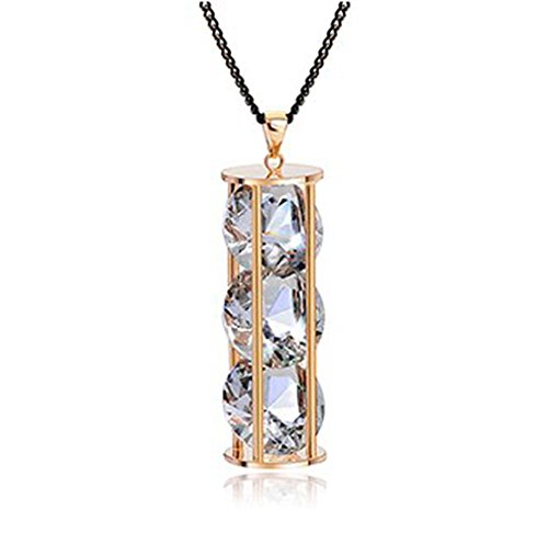"Aaa Clear Swarovski Cubic Zirconia Elements Crystal Hourglass Pendant With 31"" Long Chain Necklace Fashion Jewelry"