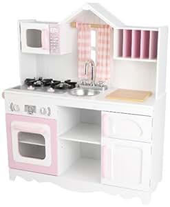 Amazoncom kidkraft 53222 modern country kitchen toy for Spielküche kidkraft