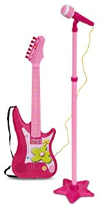 Bontempi IGirl 24.5 x 6 x 75cm Electric Guitar with Stand Microphone Dim