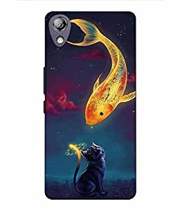 Case Cover Fish Printed Multicolor Hard Back Cover For Lenovo P70