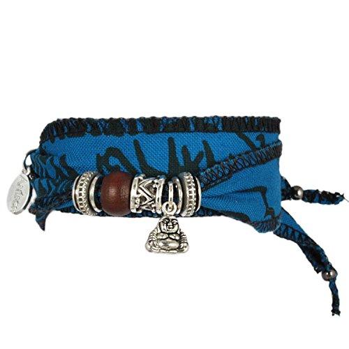 Blue-Little-Buddha-Wunsch-Glcks-Armband-aus-tibetischen-Gebetsfahnen-Hochwertiger-Baumwoll-Stoff-ist-mit-buddhistischen-Mantras-bedruckt-Eine-originelle-Geschenk-Idee-fr-coole-Mnner