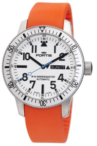 Fortis Men's 647.11.42SI.20 B-42 Marinemaster Automatic White Dial Watch