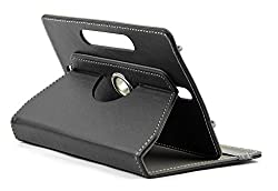 DOMO nCase B9 Smart Cover Carry Case For 7 inch Tablet PC With 360 Degree Rotation Tablet Stand And Camera Holes - Black