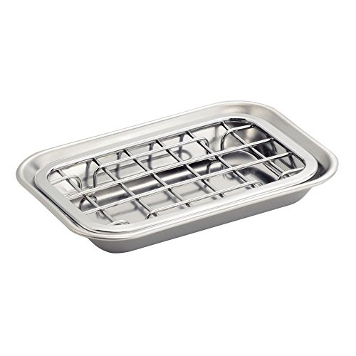 InterDesign Sinkworks Two Piece Soap Dish, Stainless Steel, Chrome (Soap Dish With Drain compare prices)