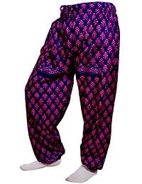 Women's Cotton Harem Pants Afghani Trousers - B06XVD439M