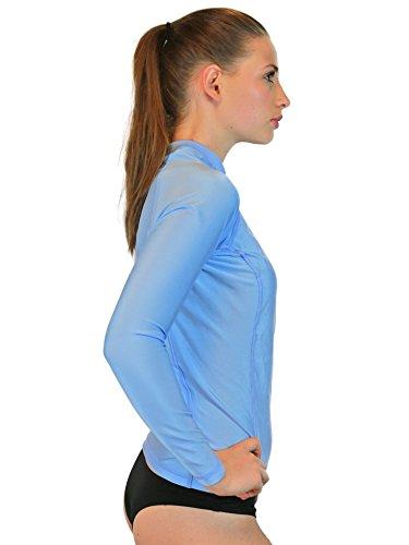 Rash guard women long sleeve womens swim shirt made in for Womens rash guard shirts
