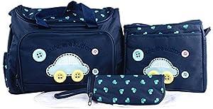 V-SOL Set 4Pcs Bolsa / Bolso De Mamá Maternal Para Bebé Biberón Colchoneta Pañal De Mano Bandolera Azul de V-SOL