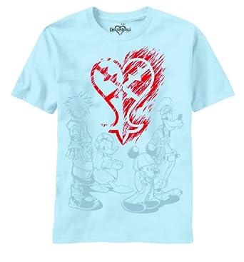 Kingdom Hearts: Heartless Ablaze Logo (S) Light Blue T-Shirts