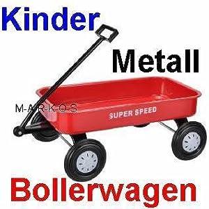 toller kinder bollerwagen handwagen ziehwagen metall. Black Bedroom Furniture Sets. Home Design Ideas