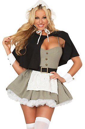 "3WISHES ""Pilgrim Fantasy Costume"" Sexy Pilgrim Halloween Costumes for Women"