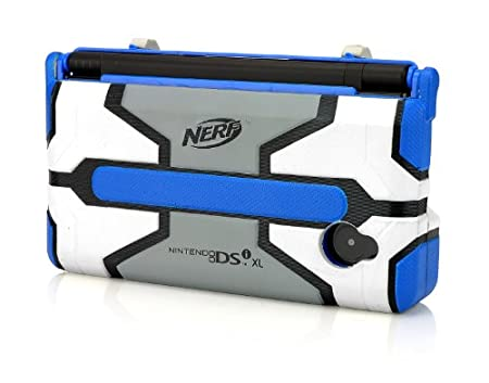 DSiXL Nerf Armor - Blue/Light Grey