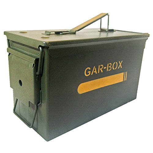Gar-Box Portable Cigar Humidor - Airtight, Waterproof & Tough; Spanish Cedar Interior w/ Humidifier & Hydrometer *Made in USA* (Vintage Humidor compare prices)