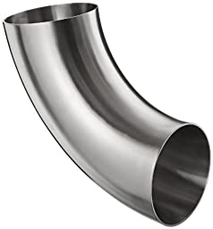 Dixon B2WCL-G600P Stainless Steel 304 Sanitary Fitting, 90 Degree Polished Weld Short Elbow, 6\