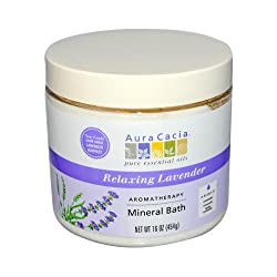 Aura Cacia Mineral Bath Relaxing Lavender