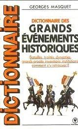 Dictionnaire des grands évènements historiq.