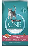 Purina ONE Dry Cat Food, Salmon & Tuna Flavor, 16-Pound Bag, Pack of 1