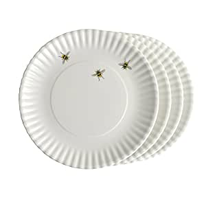 "Bees 9"" Melamine Plates, Set of 4"