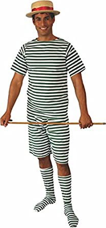 1920s Men's Costumes Alexanders Costumes Bathing Suit Male  AT vintagedancer.com