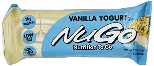 NuGo All-Natural Nutrition Bar, Vanilla Yogurt, 1.76-Ounce Bars (Pack of 15) (Gi Protect compare prices)