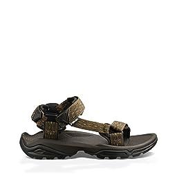 Teva Men\'s Terra FI 4 Sandal, Madang Olive Webbing, 14 M US