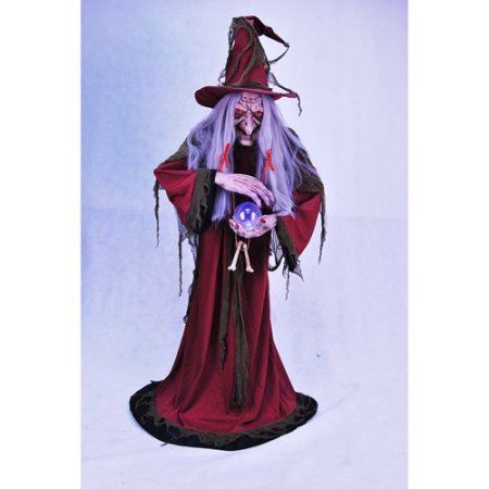 Animated Ultimate Evil Helga Halloween Fortune Teller, 5'6