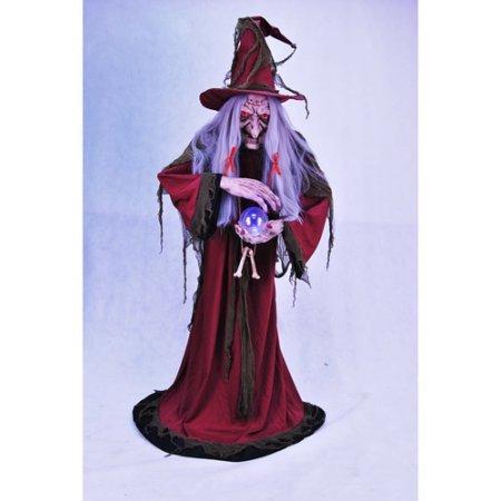 Animated Ultimate Evil Helga Halloween Fortune Teller, 5'6