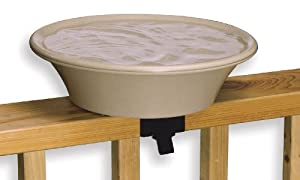 Allied Precision Industries 14B Four Seasons Heated Bird Bath with EZ Tilt Deck Mount and Pole Mount, 14-Inch