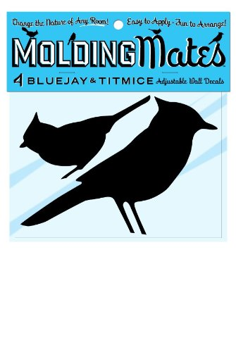 Molding Mates Blue Jays And Titmouses 4 Molding Mates Home Decor Peel And Stick Vinyl Wall Decal Stickers