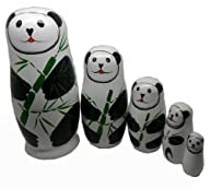 PANDA Set of 5 Cutie Nesting Dolls Russian Doll